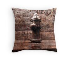 fire hydrant, or New York ambition Throw Pillow