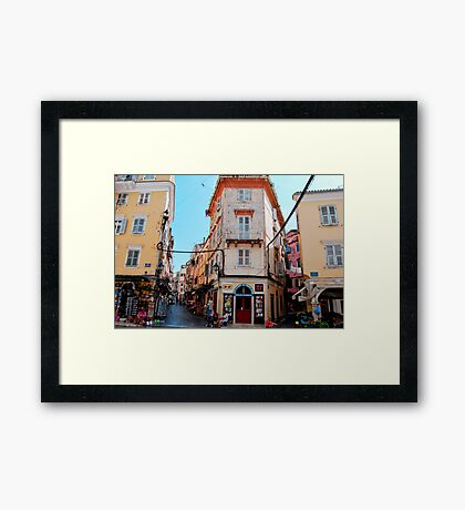 Once upon a time in Corfu Framed Print