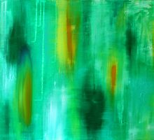 Emerald. 36 x 24. Acrylic Painting. by csoccio100
