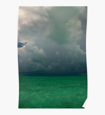 Approaching Storm, Long Island, Bahamas Poster