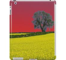 Oak Tree Landscape ( Red ) iPad Case/Skin