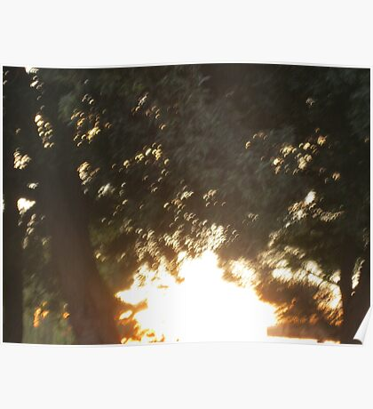 The sun hid but the rays escaped  Poster