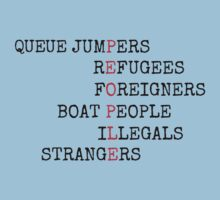 REFUGEES ARE PEOPLE Baby Tee