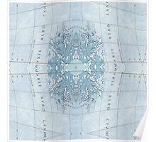 mapping mary; patterned map  Poster