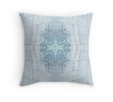 mapping mary; patterned map  Throw Pillow