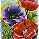 ANEMONES - AQUAREL by RainbowArt