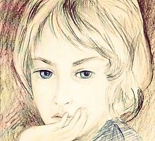 portrait of a boy by Marianna Tankelevich