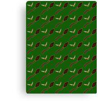 Quidditch Pattern (Slytherin) Canvas Print