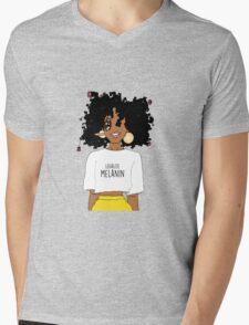 LEGALIZE MELANIN M (ABA) Mens V-Neck T-Shirt