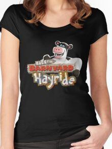 Back at the Barnyard Women's Fitted Scoop T-Shirt
