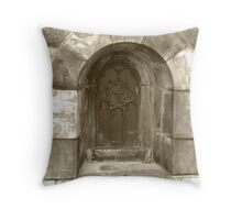 Lund Cathedral - A whiter shade of sepia Throw Pillow
