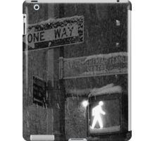 NYC Snowy Street Sign iPad Case/Skin