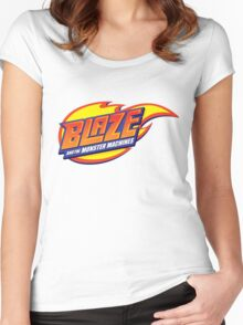 blaze and the monster machines Women's Fitted Scoop T-Shirt