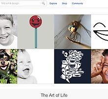 Smile! It's contagious - 11 January 2011 by The RedBubble Homepage