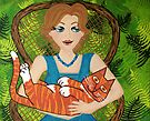 I Love My Ginger Cat by Lisa Frances Judd~QuirkyHappyArt