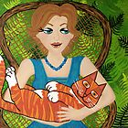I Love My Ginger Cat by Lisa Frances Judd ~ Original Australian Art