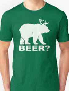 Bear Deer BEER humor T-Shirt