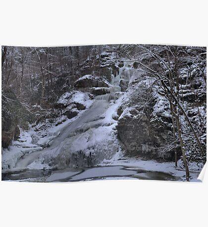 Dingmans Falls Winterscape Poster