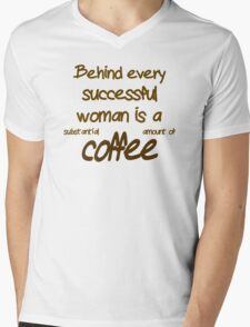 Behind Every Successful Woman Is A  Mens V-Neck T-Shirt