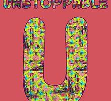 Alphabet - Unstoppable U by Geckojoy