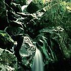 Misty Waterfall - Gouganbarra - Ireland by MacsfieldImages