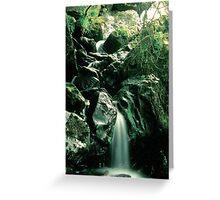 Misty Waterfall - Gouganbarra - Ireland Greeting Card