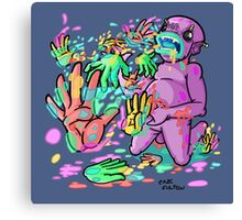 Barf Hands Canvas Print