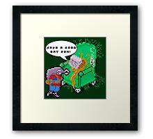 Dadlien. (Alien Dad) Framed Print