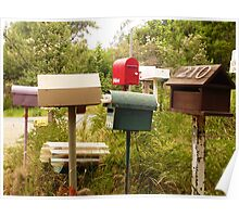 Mob of Letterboxes - Underwood, Tasmania Poster