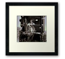The Angry Amish  Framed Print