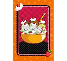 Mice Cream Sundae Kawaii Cards and Prints Photographic Print