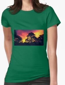 one sunset, purple. Womens Fitted T-Shirt