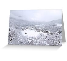 Shirakawa-go in white Greeting Card