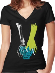 Zombie Guts Women's Fitted V-Neck T-Shirt