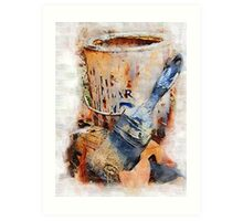 Dry Brushes and Rusty Paint Art Print