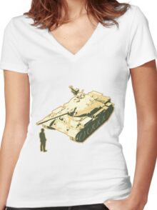 Tank Man AKA The Unknown Rebel Women's Fitted V-Neck T-Shirt