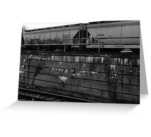 Colorless Graffiti Greeting Card