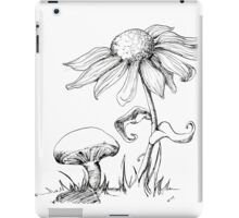 Mushroom and Sunflower iPad Case/Skin