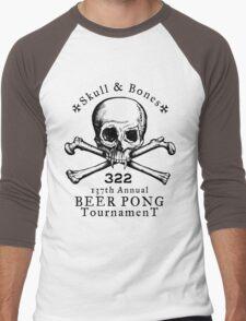 Skull & Bones Beer Pong Tournament Men's Baseball ¾ T-Shirt