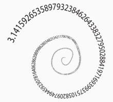 black pi spiral One Piece - Short Sleeve
