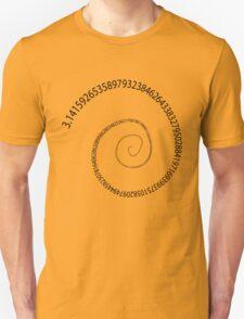black pi spiral Unisex T-Shirt