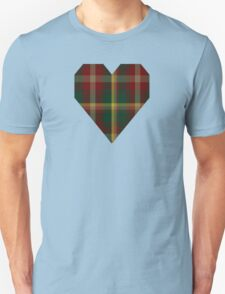 00109 Maple Leaf District Tartan  Unisex T-Shirt