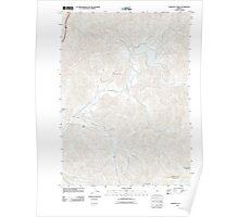 USGS Topo Map Oregon Starvout Creek 20110831 TM Poster