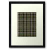 00110 Cape Breton (yellow stripes) District Tartan  Framed Print
