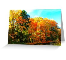 Toy soldiers of Autumn Greeting Card