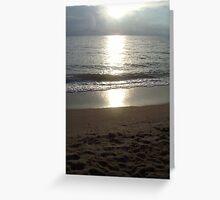 Silver Sunrise - Palm Cove FNQ Greeting Card