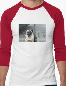 Adorable Pug Men's Baseball ¾ T-Shirt