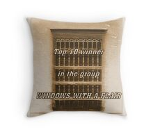 BANNER FOR WINDOWS Throw Pillow