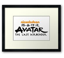 Avatar The Last Airbender Framed Print
