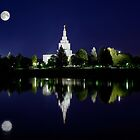 Snake River Full Moon Reflection 20x30 by Ken Fortie